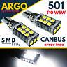 T10 Car Bulbs Led Error Free Canbus 15 Smd Xenon White W5w 501 Side Light Bulb