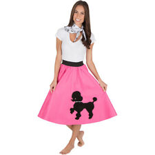 Adult Poodle Skirt Hot Pink with Musical note printed Scarf