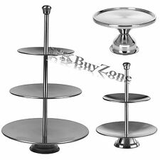 Stainless Steel 1 / 2 / 3 Tier Cupcake Stand Cake Platter Pastry Plate Party