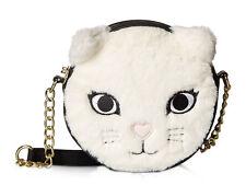 Luv By Betsey Johnson Kitsch Feline Furry Cat Bear Crossbody Messenger Bag Purse