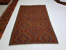 8' x 4'11 Handmade Afghan Kilim Area Rug Wool Kelim Oriental Tapis Carpet #6283