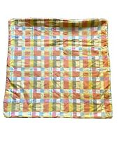 "Crate & Barrel Plaid Alistair zipper Throw Pillow Cover Sham 23""x 23"" E2"