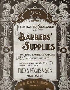 BARBER SUPPLIES  VINTAGE BARBER METAL TIN SIGN POSTER BARBER SHOP WALL PLAQUE
