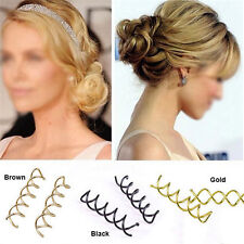 10Pcs Women Spiral Screw Pin Hair Styling Clip Twist Barrette Headwear Stunning&