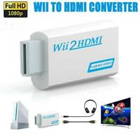 WII zu HDMI Adapter Full HD WII2HDMI Ausgang 1080P 720P Konverter 3,5mm Audio b