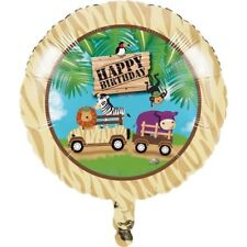 "Safari Adventure Foil Balloon 18"" Boys Girls 1st First Jungle Birthday Party"