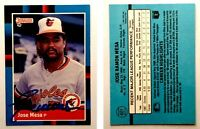 Jose Mesa Signed 1988 Donruss #601 Card Baltimore Orioles Auto Autograph