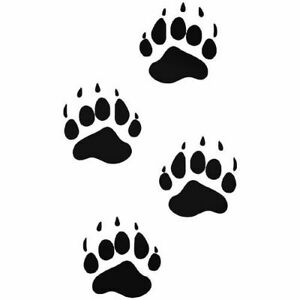 Bear Paws Stencil, A4/A5/A6