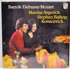 "MARTHA ARGERICH & STEPHEN KOVACEVICH   ""Bartok/Debussy/Mozart""   Vinyl  LP   NM"