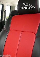 6 x  NEW JAGUAR CAT LOGO CAR SEAT HEADREST DECALS STICKERS GRAPHICS