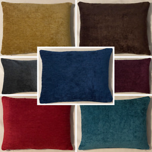 High Quality Handmade Rectangle Elite Chenille Cushion Cover Sofa Bed Zipper