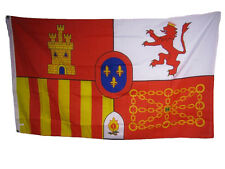 Spanish Spain Coat of Arms Lion Castle Chain 3x5 Flag Banner indoor/outdoor
