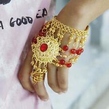 Bollywood Belly Dancing Bell Slave Bracelet Harness Finger Ring Dance Costume