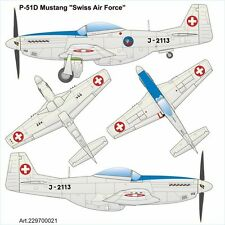 """Airpower87 (H0): 229700021 North-American P-51D Mustang """"Swiss Air Force"""""""