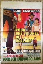 A fistful of dollars original Belgium  film Poster