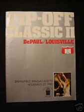 1980 Tip Off Basketball Program Springfield MA