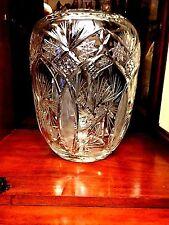 Large Crystal Vase 24% Lead Bohemian Czech