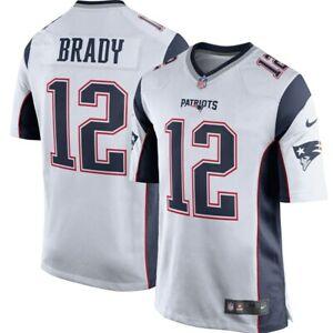 SHIPS OUT ASAP! Tom Brady Patriots 'YOUTH' New White Nike Game Jrsy Sz 18/20 XL