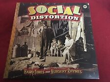 SOCIAL DISTORTION SIGNED VINYL LP ALBUM HARD TIMES AND NURSERY RHYMES MIKE NESS