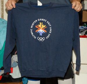 2002 Winter Olympics Sweatshirt Salt Lake city UT xl clean vintage winter sports