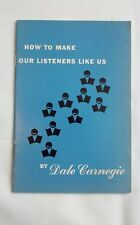 Vintage Dale Carnegie How To Make Our Listeners Like Us Booklet