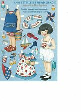 Mary Engelbrite Paper Doll Print Uncut Gracie Jun/Jul 2002 New
