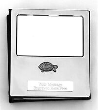 More details for tortoise design silver personalised photo album free engraving 100 photos 374