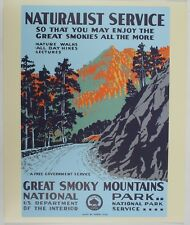 Great Smoky Mountain National Park Vintage Federal Art WPA Style Travel Poster