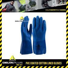 Delta Plus PVC Coated Cotton Lined Glove Abrasion Resistance 30cm Oil Type VE780