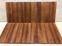 Tigerwood (Goncalo Alves) knife scales 1 5/8 x 5 3/4 x 3/8 1/4sawn bookmatched