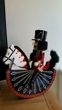 German Nutcracker Vintage Hand Crafted and Painted  Rocking Horse Wooden.