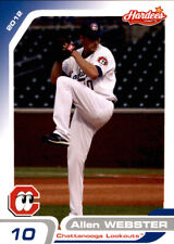 2012 Chattanooga Lookouts Grandstand #30 Allen Webster Madison North Carolina NC