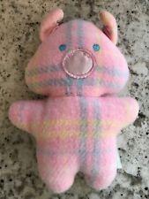 Playskool 1987 Blankies Snuzzles Pink Plaid Pig Plush Lovey