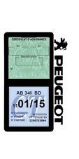 Porte vignette assurance Peugeot double étui voiture adhésif Stickers auto rétro
