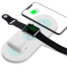 10W Type C USB 3-in-1 Fast Qi Wireless Charger for Apple Watch IPhone X 8 8 Plus