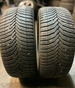 X2 Matching Pair Of 225/40/18 Michelin Cross Climate 92Y Tyres