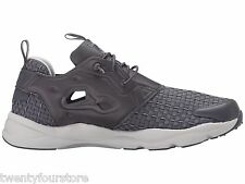 NEW Mens Reebok Furylite New Woven Shoes in Ash Grey / Shark AR3446 sz 8.5