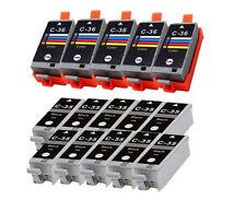 15 Pack Replacement Ink for Canon PGI-35 CLI-36 PIXMA ip100 mini260 mini320 Chip