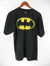DC Batman Original Bat Signal Decal Black T-shirt 100% Cotton Size L Large