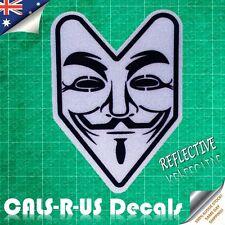 JDM Anonymous Vendetta V Wakaba Leaf Drift Car Vinyl Sticker Decal. Reflective.
