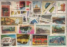 900 verschiedene Briefmarken Eisenbahn , Zug , Train , tren
