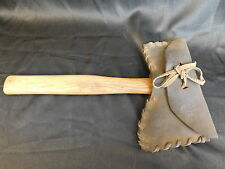 COLLINS BROAD HEAD HATCHET AND HAND MADE LACED LEATHER COVER BEAUTIFUL !!