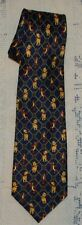 "Walt Disney Winnie The Pooh and Tigger Neck Tie Polyester 4"" x 58"" Navy Blue"
