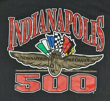 vtg 90s Indianapolis INDY 500 T-Shirt Men's XXL 2XL Black F1 Racing Car Motor SS