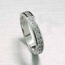 brillant-halbmemory-ring 0,85ct Platino 900 NUEVO DIAMANTES (40608)