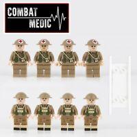 8pcs WW2 Military British Army medic Soldier Building Blocks Fit Lego UK SELLER
