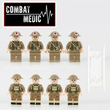 8pcs WW2 Military British Army medic Soldier Building Blocks Fit Lego UK SELLER