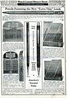 1940 Print Ad of Extra Thin Lead Pencils Eagle Dixon Rite Threadline Eversharp