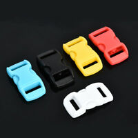 """10/50/100pcs 3/8"""" 10mm Curved Side Release Plastic Buckle for Paracord Belt HOT"""