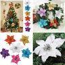 10pcs Christmas Glitter Hollow Wedding Party Flowers Xmas Tree Decorations Decor